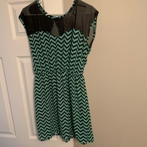 Charlotte Russe teal and black dress size L